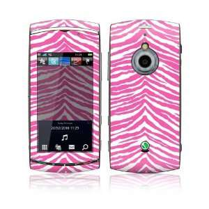 Pink Zebra Design Decorative Skin Decal Sticker for Sony