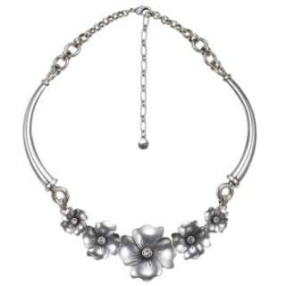 Buy these pretty silver plated flower necklace from Bohms SS12 pretty