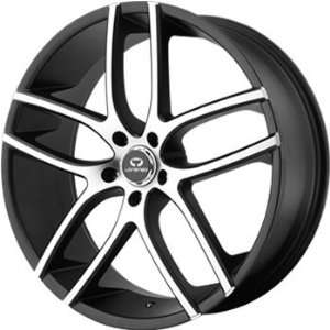 Lorenzo WL035 22x9 Black Wheel / Rim 5x4.5 with a 15mm Offset and a 72