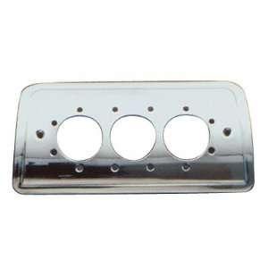 Aluminum Third Brake Light Cover   Small Circle Cutouts Automotive