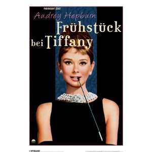 Audrey Hepburn/Breakfast At Tiffany German Poster