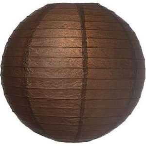 Brown 24 Inch Large Paper Lantern (parallel ribbing)