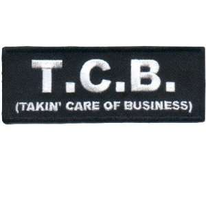 TCB TAKIN CARE OF BUSINESS Quality Fun Biker Vest Patch
