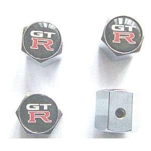 Nissan GTR Anti theft Car Wheel Tire Valve Stem Caps