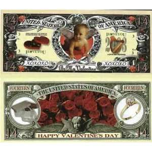 ValentineS Day * $14 Dollar Bills Case Pack 100