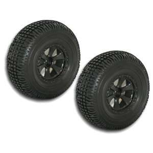 Black Short Course Wheels And Tires 2pcs Sports