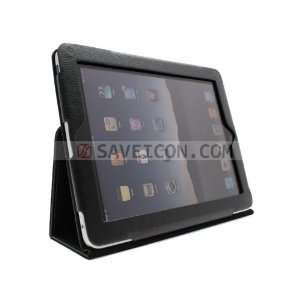 SAVEICON Black PU Folio Leather Case Cover with Built in