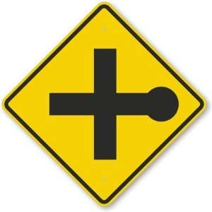Road Intersection Symbol Aluminum Sign, 24 x 24 Office