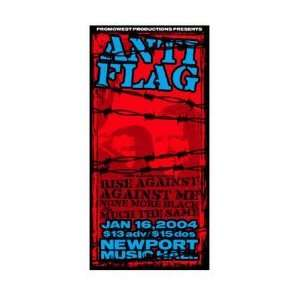 ANTI FLAG   Limited Edition Concert Poster   by Mike