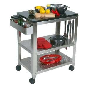 New Suncast Rolling Outdoor Storage Prep Serving Cart