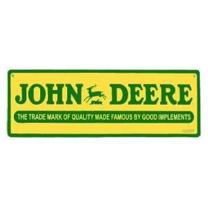 John Deere Collectible Sign 20095: Kitchen & Dining