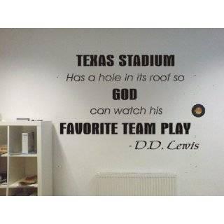 Texas Stadium Dallas Cowboys funny football famous quote Wall Art