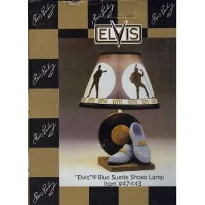 Elvis Presley Blue Suede Shoes Lamp