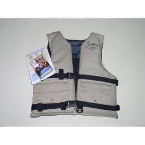 Kent fising vest, tan, buck, universal 30 52 chest: Sports & Outdoors