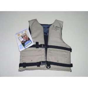 Kent fising vest, tan, buck, universal 30 52 chest: Sports & Outdoors