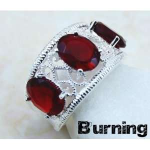 JEWELRY LABORATORY RED GARNET GIFT RING (SIZE 7)   from