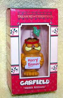 Enesco Garfield Mistletoe Merry Kissmas Ornament MIB