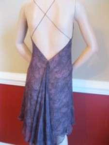Fiori di Zucca SILK Handkerchief Dress BOHO Halter 8 Dark Purple