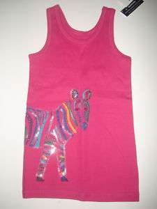 NWT GAP Kids Senegal Pink Zebra Tank Top S 6 7 JL