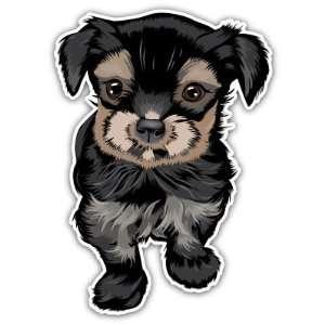 Yorkshire Terrier Puppy Dog Car Bumper Sticker Decal 5x3
