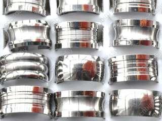 Wholesale lots 36 Heavy stainless steel Mens Rings free