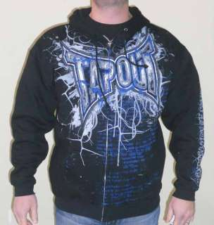 Tapout Hoodie ZIp Up Black, Grey, Blue TapouT Print NEW