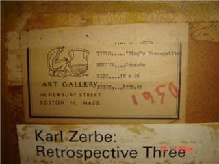 ORIGINAL Karl Zerbe GERMAN AMERICAN Gouache Painting