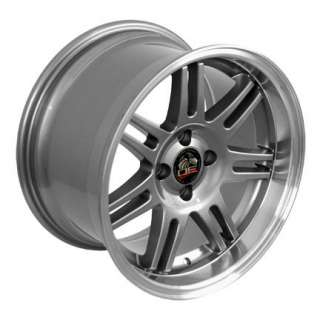 17 9/10 Gunmetal 10th Anniversary Wheels Rims Fit Mustang® 79 93