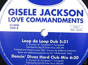GISELE JACKSON LOVE COMMANDMENTS SPEED GARAGE 2x12@LISN
