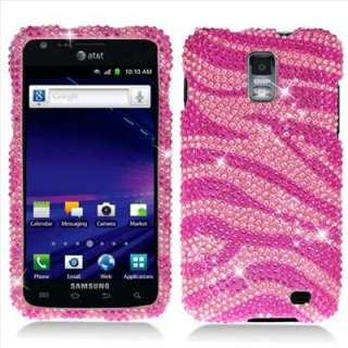 Pink Zebra Bling Hard Case Cover for Samsung Galaxy S 2 II Skyrocket