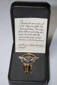 Harley Davidson Motorcycle 100th Anniversary Gold Key Brass/Sterling