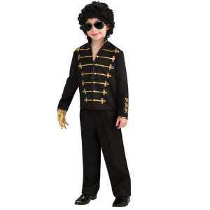 Rubies Costume Co R884230 S Boys Black Michael Jackson Military Jacket
