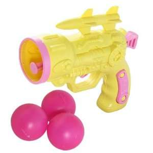 Plastic Yellow Gun Fight Toy w 3 Pcs Table Tennis Toys & Games