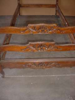 Great antique French country walnut twin bed # as/1194
