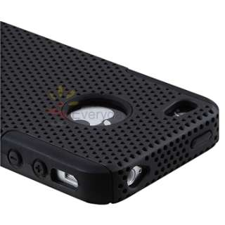 White+Pink+Red+Black+Purple Mesh Hard/Rubber Skin Case Cover For