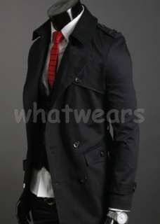 Mens New Style Collar Double Breasted Trench Coat 2 Color 3 Size Z1290
