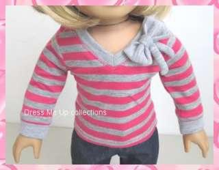 sleeve Shirt Capri Jeans Sneakers 4 American Girl Dolls 139