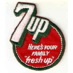 7Up soft drink soda logo Heres Your Family fresh up  Embroidered