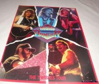 NIGHT RANGER The 7 Wishes Tour CONCERT PROGRAM BOOK