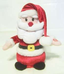10 Singing Dancing Santa Doll Battery Red Velvet CUTE