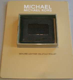 NIB AUTHENTIC Michael Kors SOFT Leather Bi Fold Wallet Dark Brown