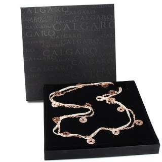 585 40 CALGARO GOLD PLATED SILVER COINS Necklace AF417GCBRR NEW IN