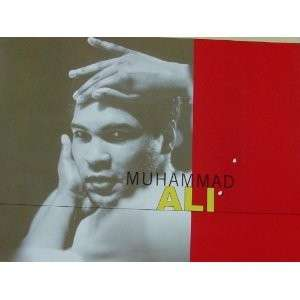 Muhammad Ali Plaster Hand Printed Plaque with 2 Authentic Signatures