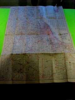 1925 Chicago Motor Club Tag Illinois License Plate Chicago AAA MapNo
