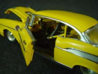 Danbury Mint Classic Cars 1957 Chevy Pro Street Hardtop Yellow