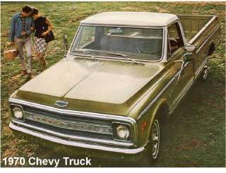 1970 Chevy Pickup Truck Refrigerator Magnet