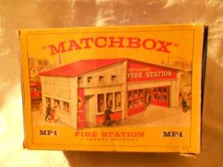 MATCHBOX MF 1 FIRE STATION   1963   BOXED   RED ROOF