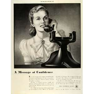 1942 Ad World War II Message of Confidence Bell Telephone System WWII