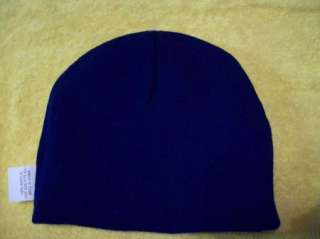 NEW MENS BOYS NAVY BLUE REVERSIBLE CORONA Beanie Ski Knit Hat Winter