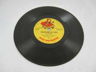 Peter Pan Records Marching/Yellow Rose Texas 78RPM 413